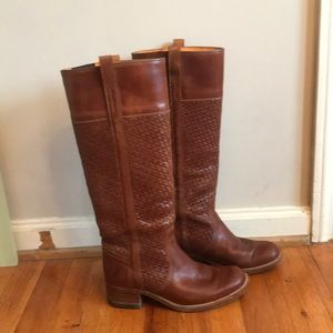 Frye woven boots